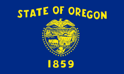 Oregon state flag - usa
