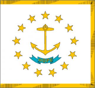Rode Island state flag - usa