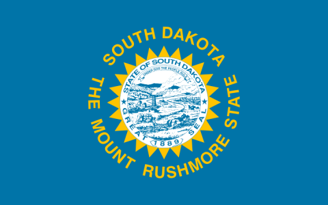 South Dakota state flag - usa