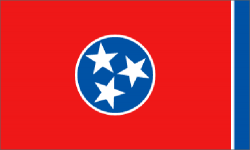 Tennessee state flag - usa