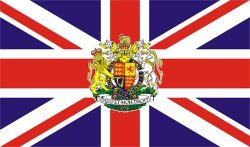 Union Jack Royal Crest flag