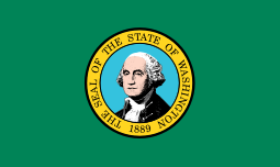 Washington state flag - usa