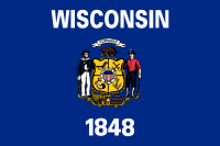 Wisconsin state flag - usa