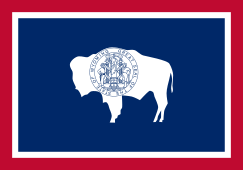 Wyoming state flag - usa